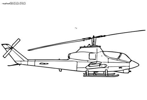 Gambar Mewarnai Pesawat Helikopter Helikopter Warna Gambar