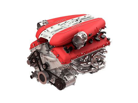 Ferrari 812 Superfast Engine V12 Powertrain Car Model Ferrari Ferrari F12berlinetta