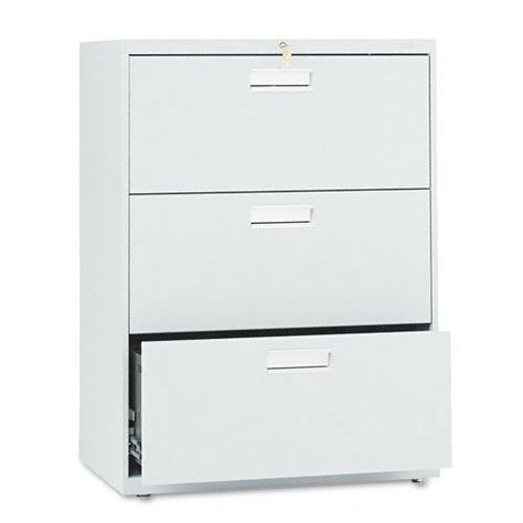 Lorell 2-Drawer Lateral File 30 by 18-5//8 by 28-1//8-Inch Light Gray