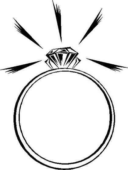 Sparkling Wedding Ring Diamond Coloring Page Favorite Engagement