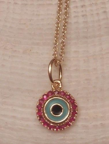 24c6d3e50a05a Details about Beautiful Sydney Evan 14k Gold Evil Eye Pave Diamond ...