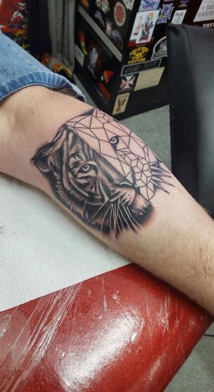 Photo of 35+ Trendy tattoo geometric tiger design