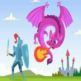 لعبة تلوين المحارب Knight War Coloring Dragon Fight Fantasy Creatures Fairytale Fantasy