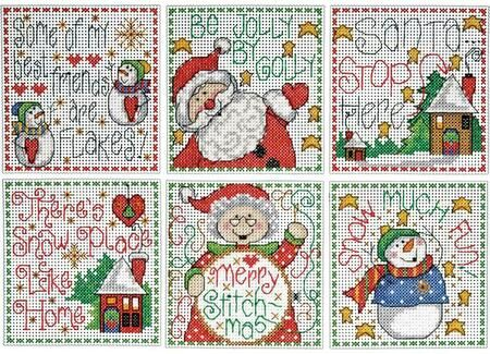 Design Works Crafts Christmas Cats Cross Stitch Ornament Kit 3-1//2 x 3-1//2