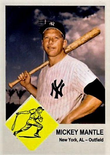 1963 Fleer Mantle Cards That Never Were Baseball