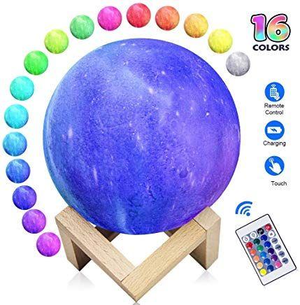 Mondlicht Mondlampe 16 Farben 15cm Led 3d Print Mondlicht Mit Standfuaÿ Fernbedienung Touch Control Und Wiederaufladbarem Usb Fernbedienung Mond Lampe Led