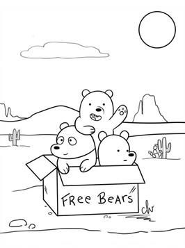 Nice Coloring Pages We Bare Bears On Kids N Fun Bear Coloring