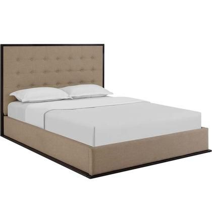 Madeline Collection Mod 5499 Cap Caf Queen Size Platform Bed With