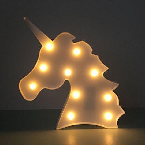 Jysport Veilleuse Led Licorne Pour Chambre Denfant Lumière D
