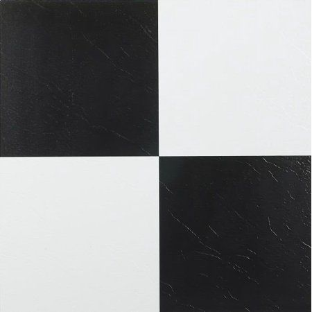 Achim Nexus Self Adhesive Vinyl Floor Tile 20 Tiles 20 Sq Ft 12x12 Black White Walmart Com Vinyl Tile Vinyl Flooring Vinyl Tiles