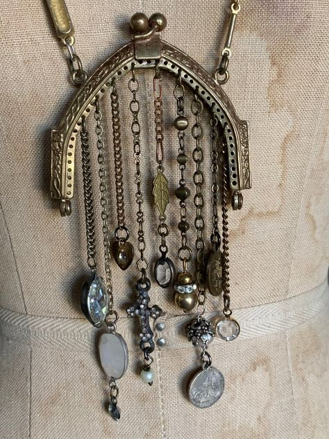Vintage Style Necklace Romantic Lace Chain Key Pink Pearls Gift Handmade Boho Style Elegant Shabby Chic