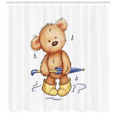 Woodland Moose Bears In The Woods Shower Curtain Bathroom Bath