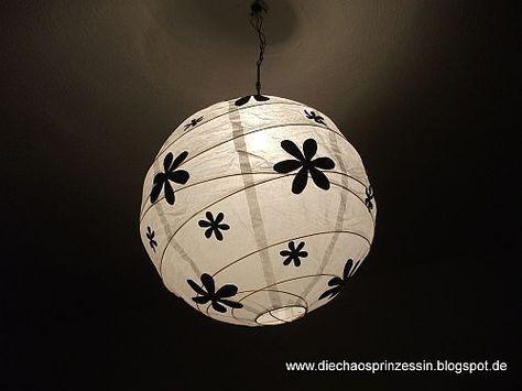 Papierlampe Verschonern Total Einfach Handmade Kultur Papierlampen Ikea Lampen Lampe