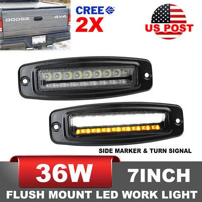 Details About 2x 7inch 36w Cree Led Work Light Bar Offroad