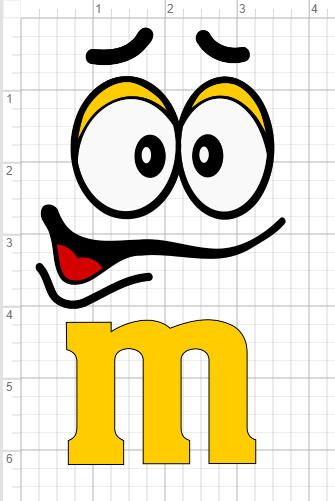 Comes In Svg Eps Dxf Studio 3 Format Only Your File Will Not Have The Measurement Lines As They Are Used As A Type Face Template Face Design M M Characters