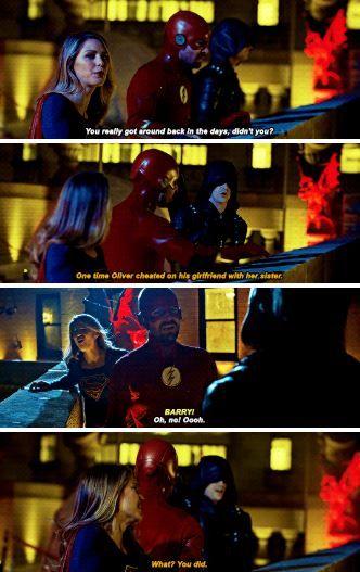 Barry, Kara and Oliver #Elseworlds   arrowverse ➹ in 2019