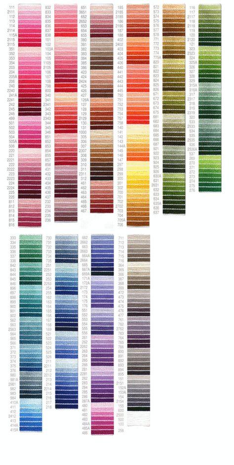 Gentle Arts Sampler Threads Conversion Chart
