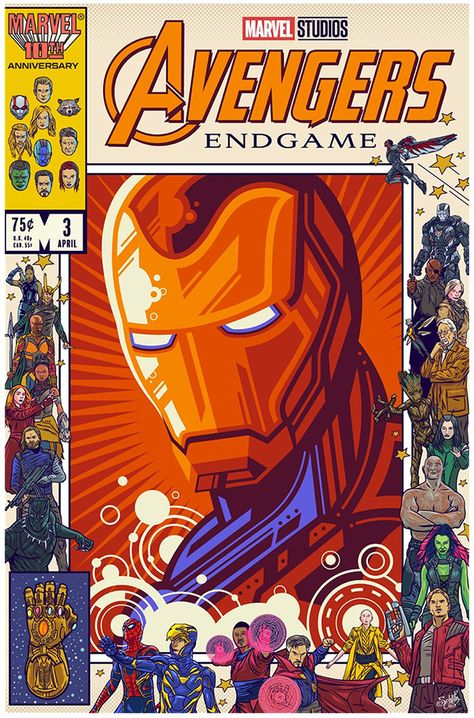 Avengers Endgame poster tribute - Home of the Alternative Movie Poster -AMP-