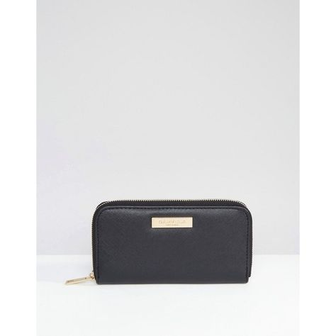 Carvela Zip Around Purse ($33) ❤ liked on Polyvore featuring bags, wallets, black, zip around bag, zipper bag, zip bag, zip wallet and zip-around wallet