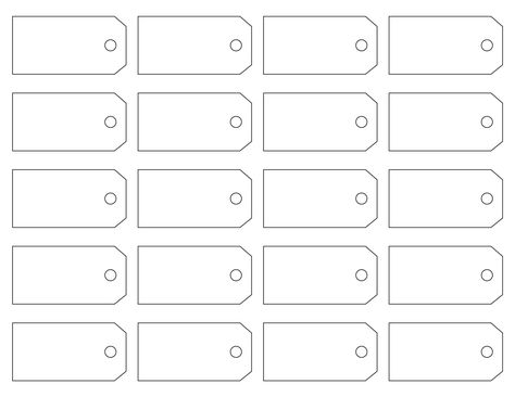 This Site Has An Assortment Of Hang Tag Templates As Well As All