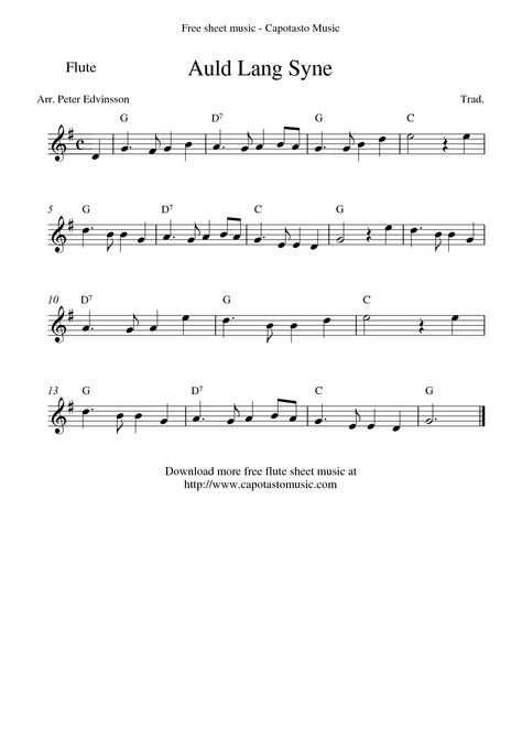 Easy Flute Sheet Music Free Easy Printable Sheet Sheet Music