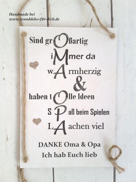 Danke Oma & Opa (Midi) | Geschenk opa, Geschenke für ...