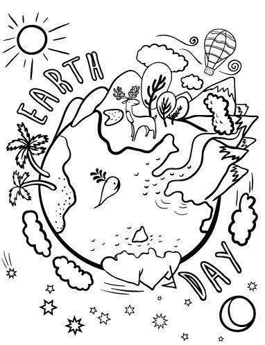 Earth Day Coloring Pages Free Kolorowanki Rysunki Plastyka