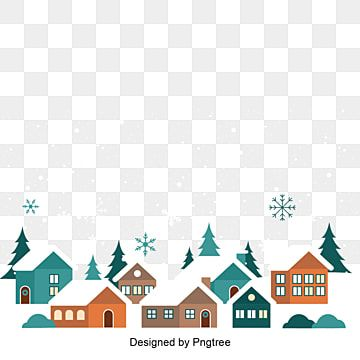 Hand Painted Cartoon Vector Winter Village House Building Illustration Cartoon Simple Modern Png And Vector With Transparent Background For Free Download In 2020 Building Illustration Cartoons Vector Village Houses