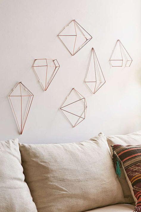 UrbanOutfitters.com: Himmeli style copper decorations set/6 $39