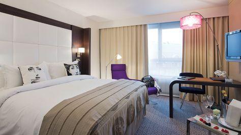 Sofitel Hotel is een stijlvolle hotel dat zijn Franse moderne design combineert met het Brusselse. gelegen in een rustig ingestelde wijk onder groene parken, cafés en musea.