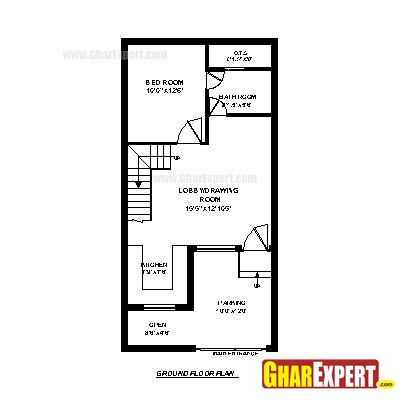 House Plan For 17 Feet By 45 Feet Plot Plot Size 85 Square Yards Gharexpert Com My House Plans 20x40 House Plans House Map