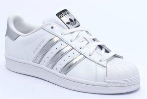 adidas bianco argento