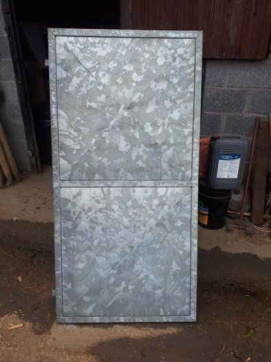 Steel Door 33 1 2 Inch Wide And 67 Inch High Fully Galvanised As New Steel Doors Galvanized Doors