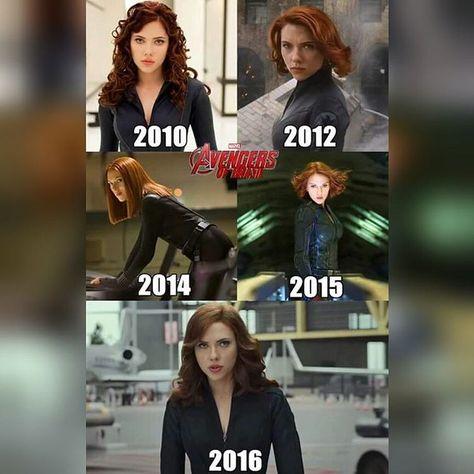 Black Widow 2010-2016 love, love, loooove her hair this year!