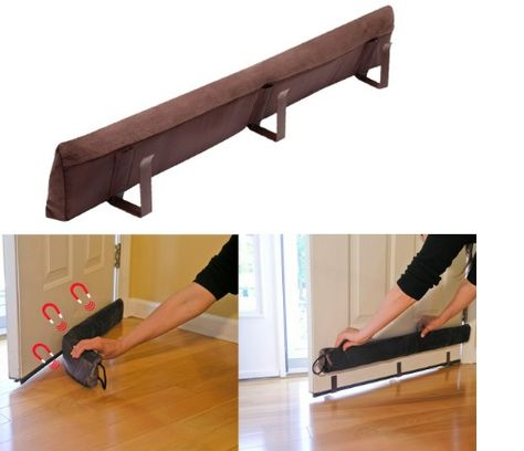 Evelots Magnetic Clip On Door Draft Stopper Brown Cold Air Out Energy Saver Evelots Door Draught Stopper Draft Stopper Door Draft