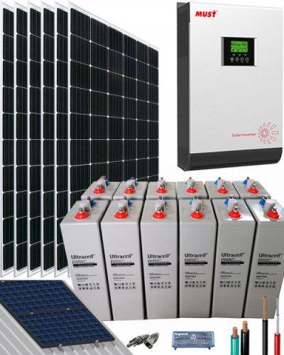 Kit Solar Casa Campo 3000w 24v 6400whdia Al Mejor Precio En 2020 Kit Solar Energia Solar Casas Con Paneles Solares
