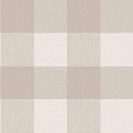 Crown Glamorous Check Wallpaper Natural M1503 Vinyl Wallpaper Wallpaper Tartan Wallpaper