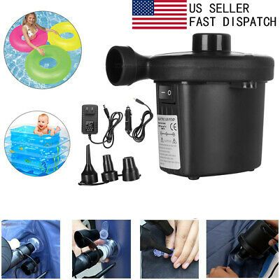 Advertisement Electric Portable Air Pump For Inflatables Air Mattress Raft Bed Boat Pool Toy Portable Air Pump Inflatable Air Mattress Air Mattress Camping