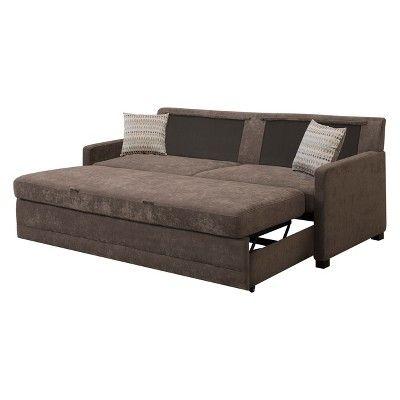 Serta Shelby Convertible Sofa Brown Queen Size Sleeper Sofa