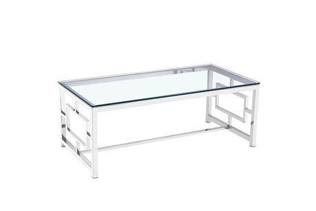 Home Gear Ott Coffee Table Polished Steel Coffee Table Walmart