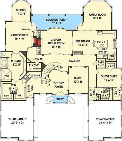 Plan 12278jl Six Bedroom Luxury Chateau French Country House Plans House Plans Country House Plans