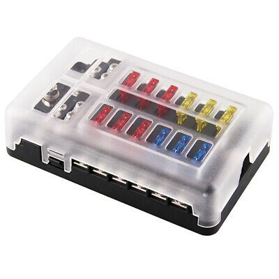 Ad Ebay Link 5x 12 Way Fuse Box Fuse Block Holder Screw Nut Terminal With Negative Bus 5 U3b8 In 2020 Consumer Electronics Fuse Box Electronics