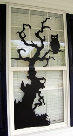 Halloween Quote MDF wall art window decoration craft shape halloween party
