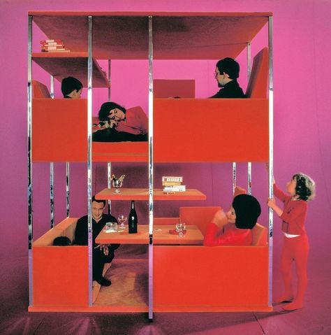 "David Giroire on Instagram: ""Multifunctional furniture unit by Verner Panton, 1966 🍷 #vernerpanton #fridaymood"""