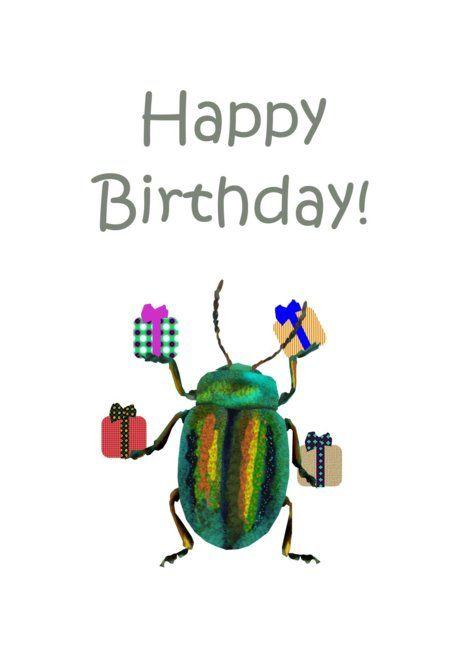 Birthday, Beetle greeting card #Ad , #sponsored, #Beetle, #Birthday, #card,  #greeting | Baby shower invitation templates, Birthday, Greeting cards