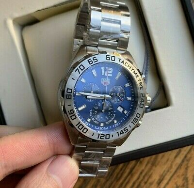 sneakers for cheap 92523 87b9a Tag Heuer Formula 1 Blue Sunray Dial Chronograph Mens Watch ...