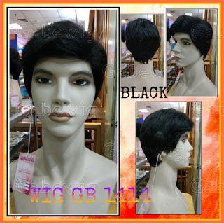 Jual Wig Murah Hairclip Murah Grosir Eceran Wig Gb 1414 Cowok Black Rambut Palsu Sanggul Poni