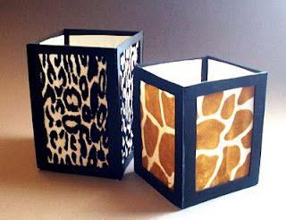 luminaries from foam board and scrapbook paper