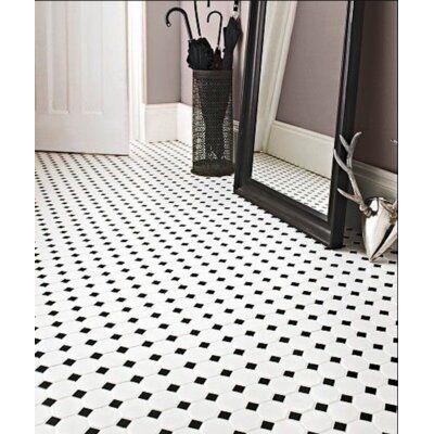 Thomas Avenue Ceramics 2 X 2 Porcelain Octagon And Dot Mosaic Wall Floor Tile Wayfair In 2020 White Mosaic Tiles Octagon Tile Black And White Tiles