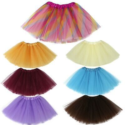 Cute Toddler Intant Baby Girls Kids Solid Tutu Ballet Skirts Fancy Party Skirt